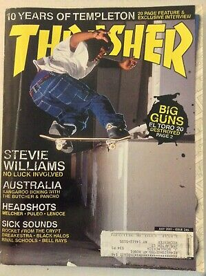 Thrasher Magazine Steve Williams 10 Years Of Templeton July 2001 040119nonrh