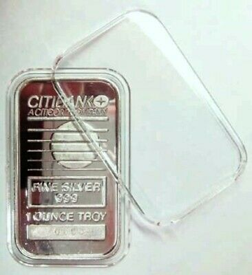 100 Airtite Coin Holder Capsule Direct Fit Rectangle 1Oz Silver Bar