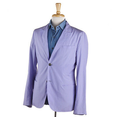 New $1850 GIORGIO ARMANI Lavender Blue Lightweight Cotton-Silk Sport Coat 38 R