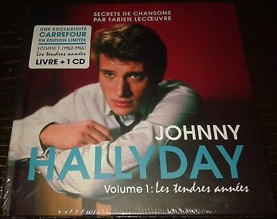 Neuf Scelle Johnny Hallyday Livre Cd Carrefour Secrets De Chansons Volume 1