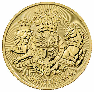 2019 Great Britain 1 oz Gold Royal Arms £100 Coin GEM BU SKU57765