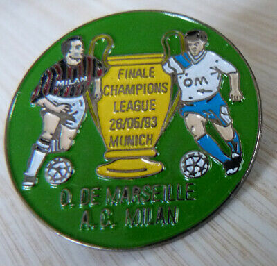 Pin's Foot Om Marseille Ac Milan Coupe Finale Champions League 93