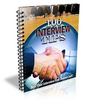 100 Interview Tips eBook Master Resell Rights +10 Free Valuable E books 24hrs