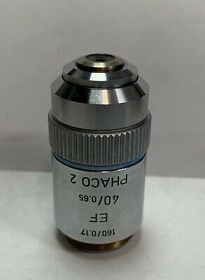 Leitz 40X EF Phaco  2 Phase Contrast Microscope Objective 160mm Part # 519769