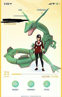 pokemon go account with Rayquaza,Latias,Dialga,Palkia,4Shiny Pokemon,7Unowns