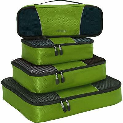 Packing Cubes for Travel - 4pc Classic Plus Set - (Grasshopper)