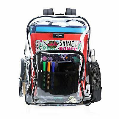 Heavy Duty Clear Backpack Durable Military Nylon Transparent for School