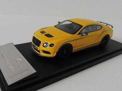 Bentley Continental GT3 R 2015 1/43 Almost Real 430404 MONACO YELLOW China