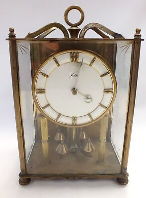 Large VINTAGE KOMA BRASS Pendulum Clock For Spares & Repairs  - D38
