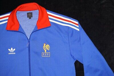a05596d48 Retro France Adidas Originals World Cup Football Tracksuit Track Top Medium