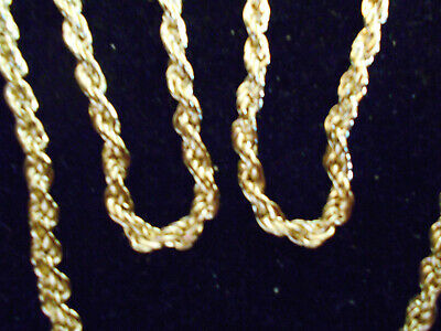 bling gold plated FASHION JEWELRY 4mm 30 in long rope chain necklace hip hop gp