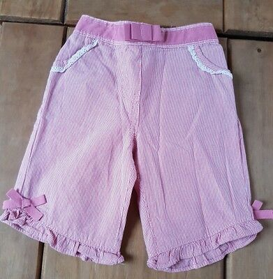 Monsoon babygirl pink white striped trousers 0/3 mth combine post build a bundle