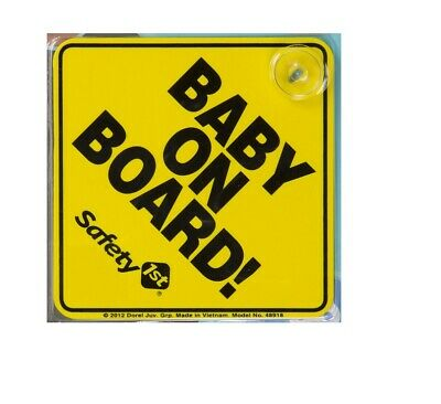 New Safety 1st Juvenile Baby On Board Sign