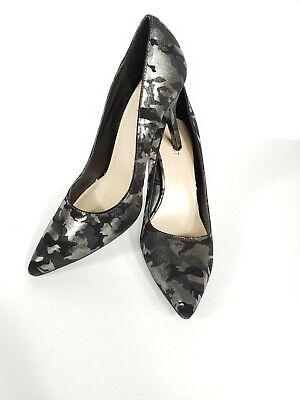 5f8d15b0717 Nine West Flaggstaff Black And Silver Camouflage Print Pump Size 11
