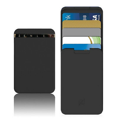 Zenlet Credit Card Anti-side Wallet Action Push+Pull Card Holder Portector