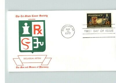 """PHARMACY, First Day of Issue """"The Men and Women of Pharmacy"""" 1972 FDC"""