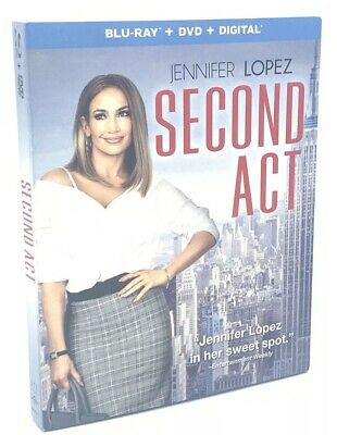 Second Act (Blu-ray+DVD+Digital, 2019; 2-Disc Set) NEW with Slipcover