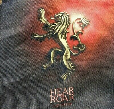 "Game Of Thrones Lannister Hear Me Roar Pillow Covers 16"" X 16"" Red Black"