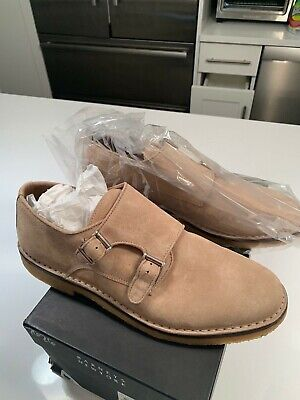 0785bb1e3987 BARNEYS NEW YORK Mens Suede Tan Shoes Size 10.5 US double monk strap ...