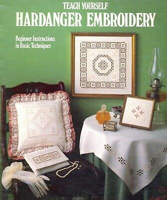 Leisure Arts Teach Yourself Hardanger Embroidery Booklet