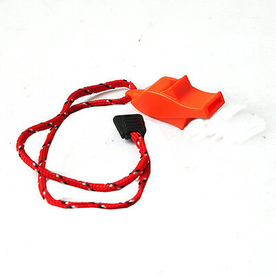 Orange Security Emergency Whistle With Lanyard Camping Hiking Boating FSFS