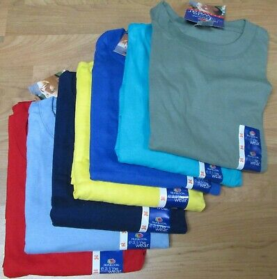 Men's T-Shirts 3XL Fruit of The Loom 7 Pc lot 7 colors 100 % Cotton Tee Navy