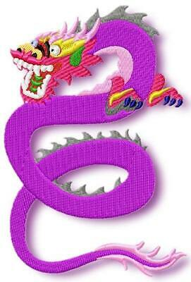 COLOURFUL CHINESE DRAGONS 10 MACHINE EMBROIDERY DESIGNS CD or USB