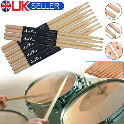 16 Inch Drum Sticks High Quality Maple Wood Tip 5A Drumsticks Percussion Sticks