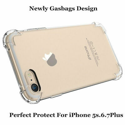 Shockproof Case Clear TPU Silicone Protective Bumper Cover for iPhone 78 Plus X