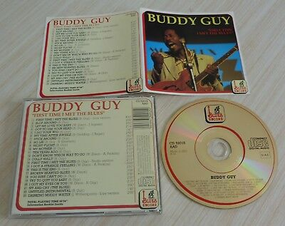 Cd Album First Time I Met The Blues Buddy Guy 23 Titres 1991