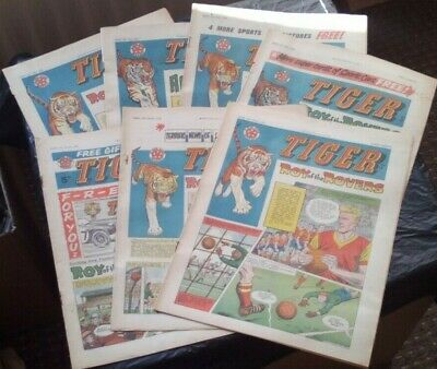 Tiger comic (x 7) 1962. Very Good/Fine comics