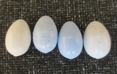 12 x FINCH DUMMY PLASTIC REPLACEMENT EGG / EGGS - NEST