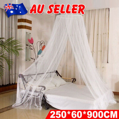 Double Single Queen Canopy Bed Curtain Dome Stopping Mosquito Net Insect AU