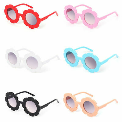 Kids Flower Shape Sunglasses Goggles Boys Girls Plastic Round Glasses UV400