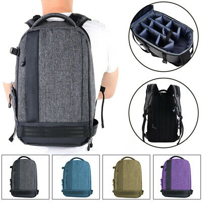 Large Waterproof DSLR Camera Backpack Shoulder Bag Carry Case for Canon/Nikon