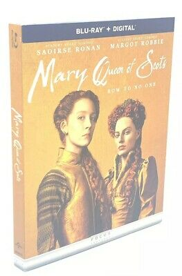 Mary Queen of Scots (Blu-ray+Digital, 2019) NEW with Slipcover