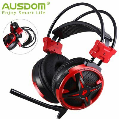 Ausdom 3.5mm USB Wired Gaming Headset Headphone Surround Stereo for PC Laptop