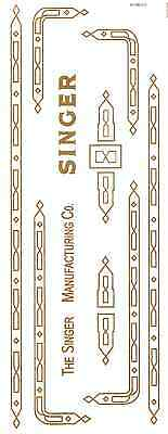 Singer 301 Sewing Machine Restoration Decals Gold Metallic New Style Prism Style