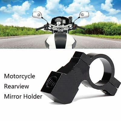 Bicycle Aluminum Alloy Mirror Clip Rear View Holder Hand Bar Screw Motorcycle