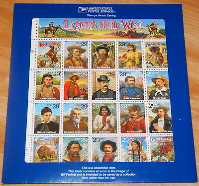 1994 Recalled Legends of the West sheet Sc# 2870