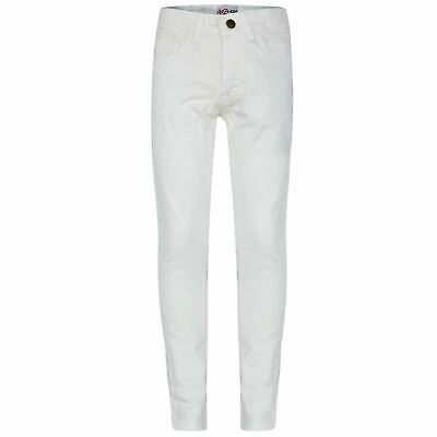 d456dfa5 Kids Girls Skinny Jeans Designer's White Denim Stretchy Pant Fit Trouser  5-13 Yr