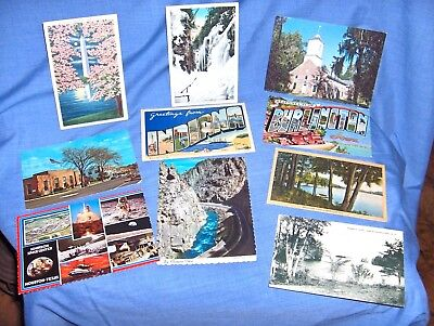 Es183 - Lot Of Ten Vintage Postcards, Some Linen, 1940'S To 1960'S - Mixed