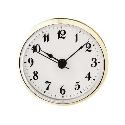 Hermle Quartz Clock Movement Insert Roman Numerals 60 mm Dia /& 17mm Depth Gold
