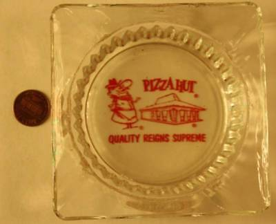 1960-70s Era Pizza Hut Old Italian Chef glass ashtray-Quality Reigns Supreme!*
