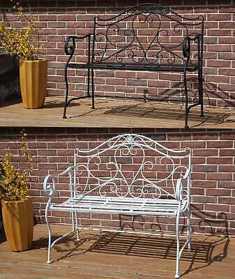 WestWood Patio Outdoor 2 Seater Garden Bench Metal Iron Ornate Vintage MGB02
