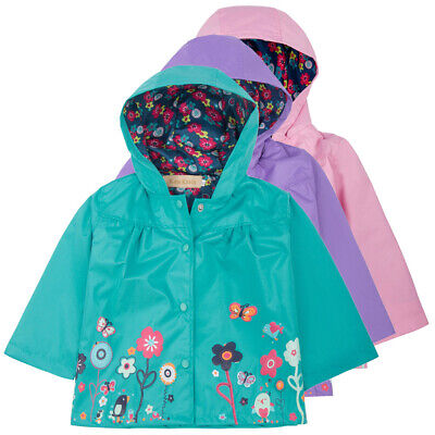 Outwear Trench Jacket Baby Sleeve Floral Kids Girls Hooded Long Children Coat