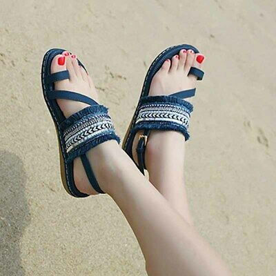 81d7d1bb4 Flip Flops Womens Boho Tassels Toe Ring Sandals Beach Summer Shoes Flats  Buckle