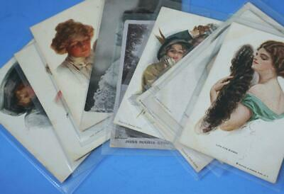 Old Assorted Vintage Postcard Collection Early 1900s Glamour inc Harrison Fisher