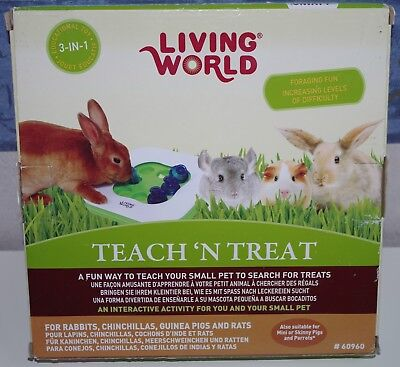 Jouet 3 en 1 pour lapin, chinchilla, cochon d'Inde, rat, perroquet Living World