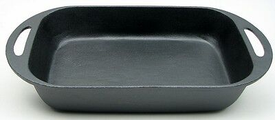 Old Mountain Cast Iron Large  Baking Pan Serving Casserole Dish   #10162
